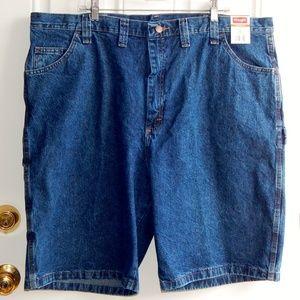 WRANGLER Carpenter Relaxed Fit Denim Shorts